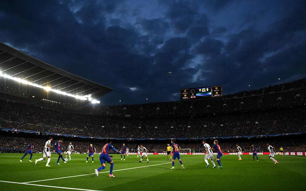 General view inside the stadium during the UEFA Champions League Quarter Final second leg match between FC Barcelona and Juventus - Credit: GETTY