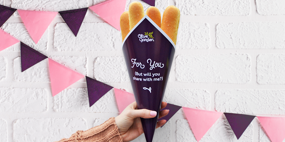After introducing Breadstick Bouquets online last year, Olive Garden is making the one-of-a-kind gift available in-restaurant for the first time starting Feb. 13.