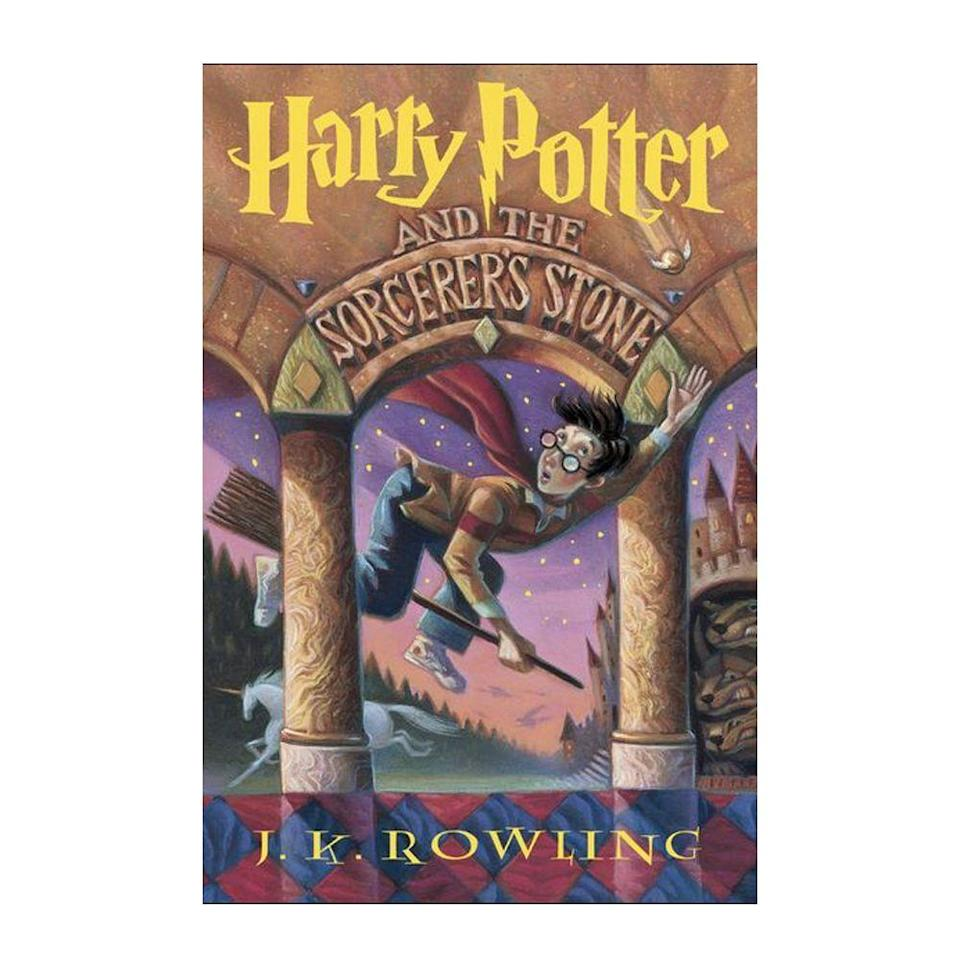 """<p><strong>$6.59 </strong><a class=""""link rapid-noclick-resp"""" href=""""https://www.amazon.com/Harry-Potter-Sorcerers-Stone-Rowling/dp/059035342X/ref=sr_1_1?tag=syn-yahoo-20&ascsubtag=%5Bartid%7C10054.g.35036418%5Bsrc%7Cyahoo-us"""" rel=""""nofollow noopener"""" target=""""_blank"""" data-ylk=""""slk:BUY NOW"""">BUY NOW</a></p><p><strong>Genre:</strong> Fantasy</p><p>The legendary story that first launched the Harry Potter phenomenon, <em>Harry Potter and the Sorcerer's Stone </em> was first published in England under a different name, <em>Harry Potter and the Philosopher's Stone</em>. The British version was published in 1997, and following its great success, was later released in the U.S. in 1998.</p>"""