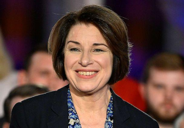 PHOTO: Sen. Amy Klobuchar participates in a Fox News Channel town hall co-moderated by Bret Baier and Martha MacCallum at Cypress Manor on Feb. 27, 2020, in Raleigh, North Carolina. (Grant Halverson/Getty Images, FILE)