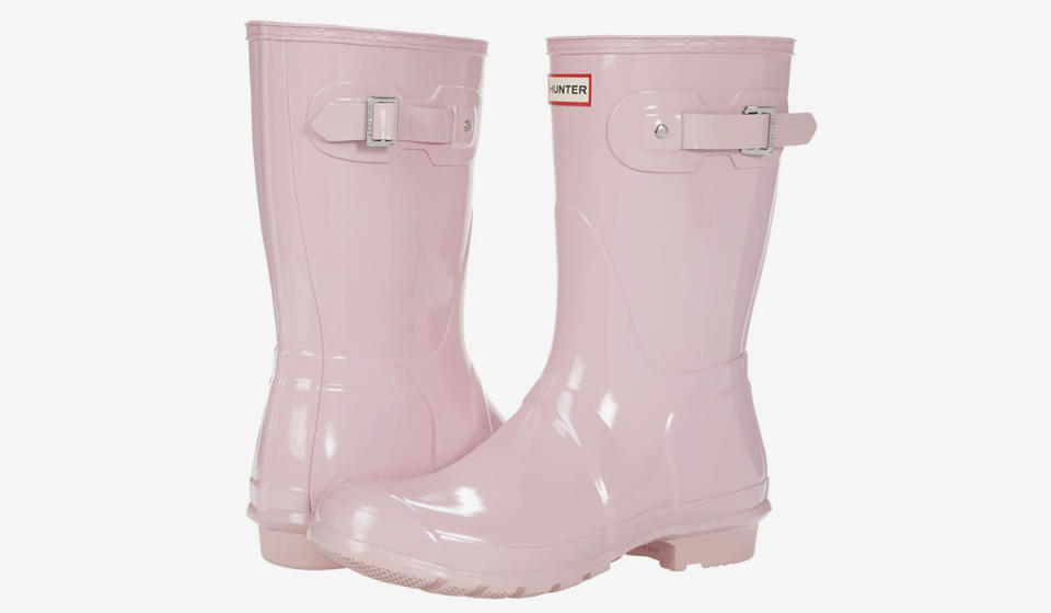 Forget black boots: Brighten up a rainy day with these pink ones instead. (Photo: Zappos)