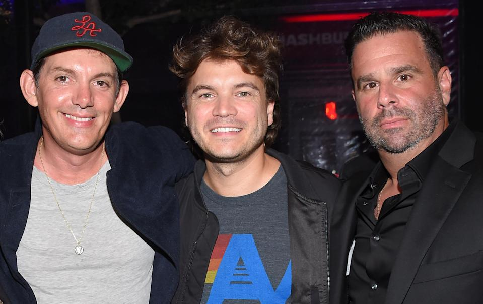 Lukas Haas, Emile Hirsch and director Randall Emmett at the 'Midnight in the Switchgrass' after party. - Credit: Lisa O'Connor