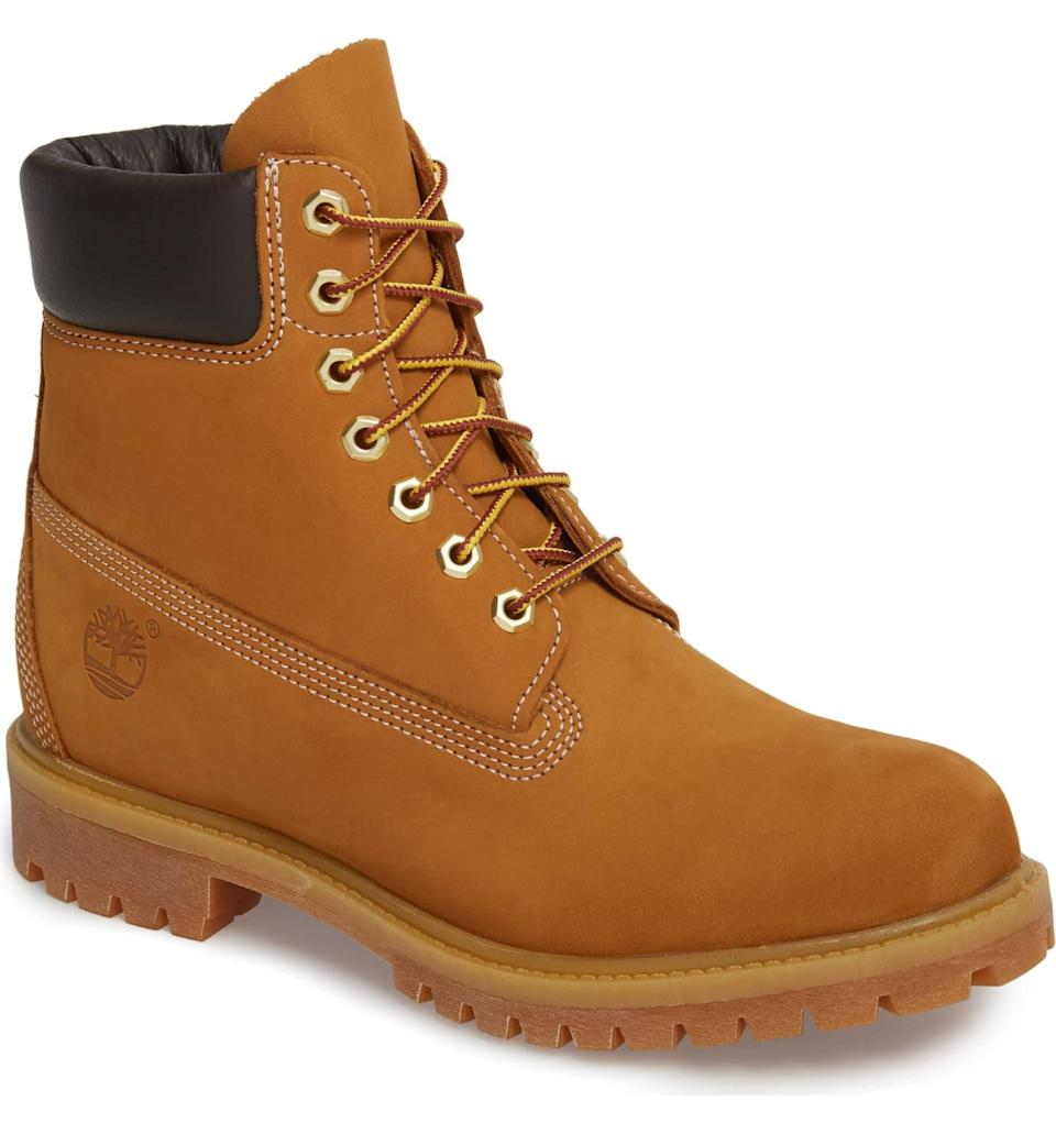 <p>They're classics for a reason. The <span>Timberland Six Inch Classic Boot</span> ($198) is a must-have for any fashionable guy.</p>