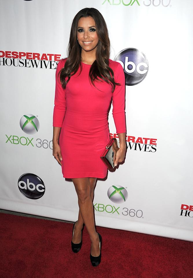 """Eva Longoria attends the """"<a target=""""_blank"""" href=""""http://tv.yahoo.com/desperate-housewives/show/36265"""">Desperate Housewives</a>"""" Series Finale Party at the W Hollywood on April 29, 2012 in Hollywood, California."""