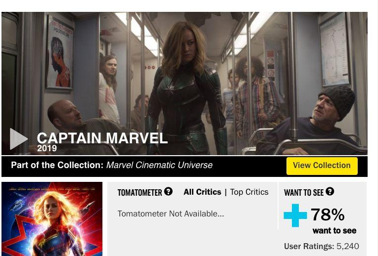 Rotten Tomatoes screenshot from Tuesday, Feb 19. (Photo: Rotten Tomatoes)
