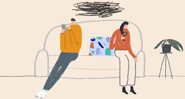Signs your significant other is ready to move on without you. (Illustration: Hannah Jacobs for Yahoo Lifestyle)