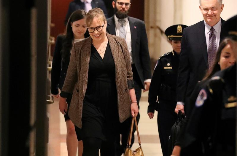 U.S. foreign service officer Croft arrives to testify at House impeachment inquiry on Capitol Hill in Washington