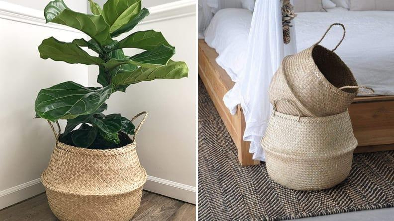 You don't have to keep only plants in this basket.