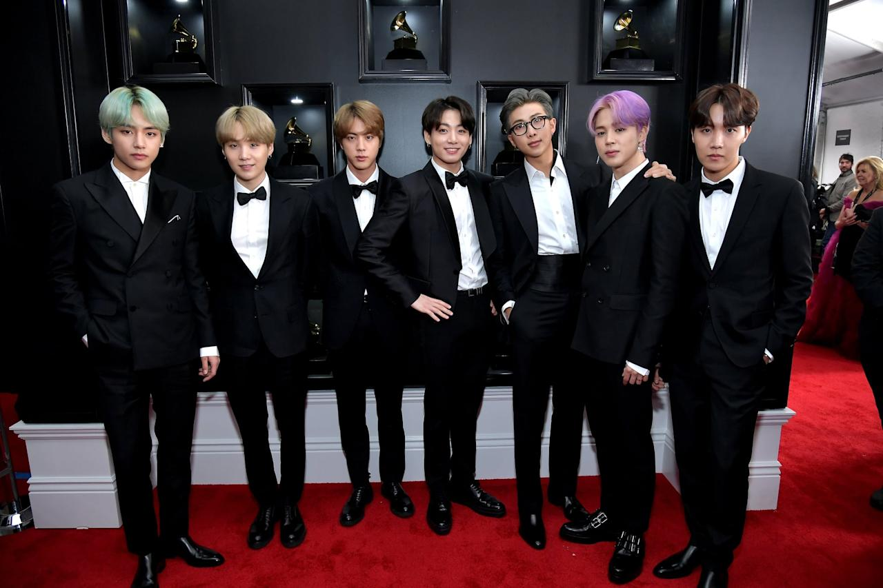 """<p>To no one's surprise, BTS was nominated for <a href=""""http://www.axs.com/complete-list-of-winners-for-the-2019-grammy-awards-136707"""" target=""""_blank"""" class=""""ga-track"""" data-ga-category=""""Related"""" data-ga-label=""""http://www.axs.com/complete-list-of-winners-for-the-2019-grammy-awards-136707"""" data-ga-action=""""In-Line Links"""">best recording package for <b>Love Yourself: Tear</b></a>. They might not have won, but they still walked that red carpet in style. </p>"""