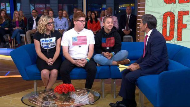PHOTO: Delaney Tarr, Matt Deitsch and Emma Gonzalez have written the new book 'Glimmer of Hope: How Tragedy Sparked A Movement,' the official story of organizing that march in the days after the horrific shooting in Parkland, Fla. (ABC)