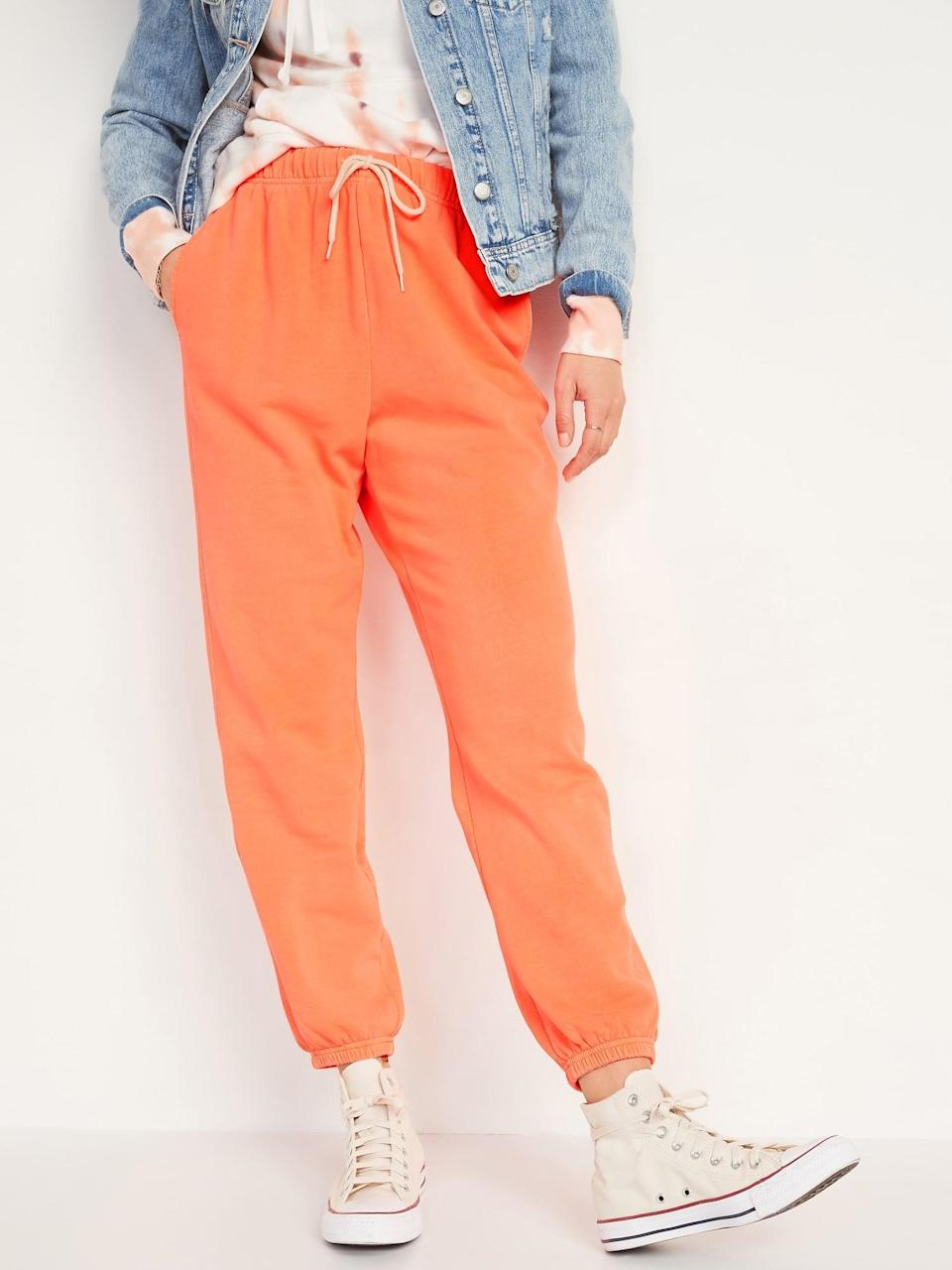<p>These <span>Extra High-Waisted Specially Dyed Sweatpants</span> ($30) have a lot of leg room for optimal movement.</p>