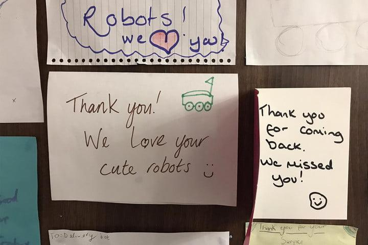 how starship technologies created delivery robots thank you notes