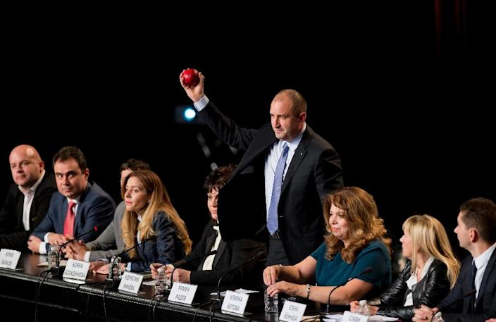 Rumen Radev's clear support for the lifting of EU sanctions on Russia over Ukraine and ambivalent statements about the EU and NATO have prompted analysts to speculate that he might pursue closer ties with Moscow (AFP Photo/Nikolay Doychinov)