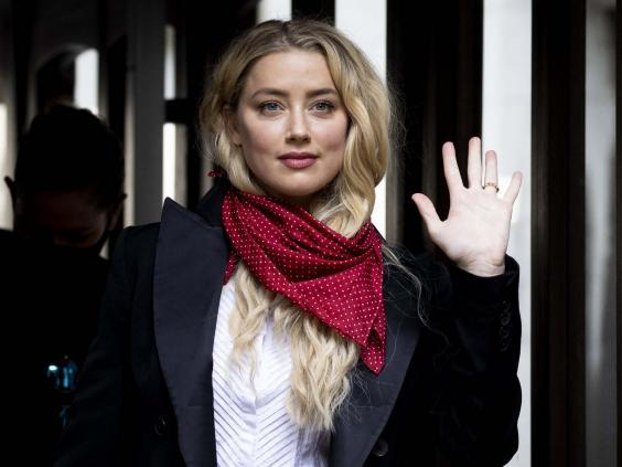 American Actress Amber Heard arrives at the High Court in London, 14 July 2020. (Getty Images)