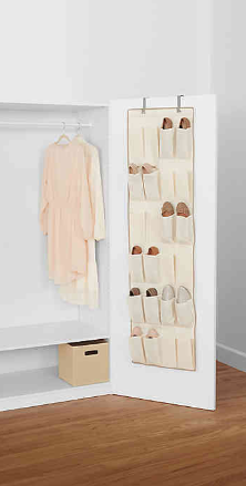Real Simple® 24-Pocket Over-the-Door Shoe Organizer in Natural