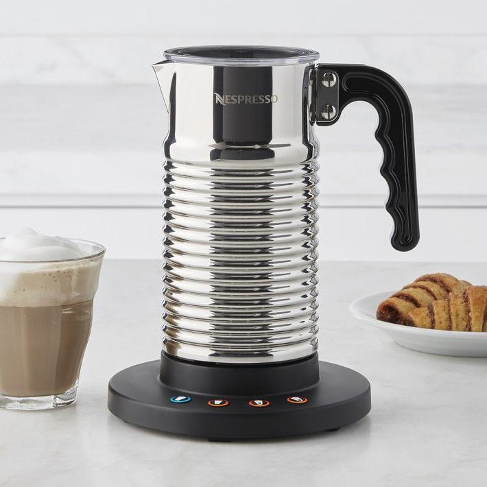 """<p><strong>Nespresso</strong></p><p>williams-sonoma.com</p><p><strong>$119.95</strong></p><p><a href=""""https://go.redirectingat.com?id=74968X1596630&url=https%3A%2F%2Fwww.williams-sonoma.com%2Fproducts%2Fnespresso-aeroccino-4-milk-frother&sref=https%3A%2F%2Fwww.goodhousekeeping.com%2Fholidays%2Fgift-ideas%2Fg29250426%2Fgifts-for-coffee-lovers%2F"""" rel=""""nofollow noopener"""" target=""""_blank"""" data-ylk=""""slk:Shop Now"""" class=""""link rapid-noclick-resp"""">Shop Now</a></p><p>If your coffee lover uses a moka pot or other coffee appliance for making a strong brew, but they don't have a proper espresso machine with a steaming wand, consider gifting them the best milk frother we tested for easy lattes and more.</p><p><strong>RELATED:</strong> <a href=""""https://www.goodhousekeeping.com/cooking-tools/g27197803/best-milk-frothers/"""" rel=""""nofollow noopener"""" target=""""_blank"""" data-ylk=""""slk:7 Best Milk Frothers of 2020, According to Kitchen Pros"""" class=""""link rapid-noclick-resp"""">7 Best Milk Frothers of 2020, According to Kitchen Pros</a></p>"""