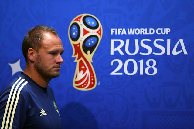 Soccer Football - World Cup - Sweden Press Conference - Fisht Stadium, Sochi, Russia - June 22, 2018 Sweden's Andreas Granqvist during the press conference REUTERS/Hannah McKay
