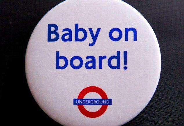 The UK and US introduced the badges in a push to help pregnant women on public transport. Source: Twitter