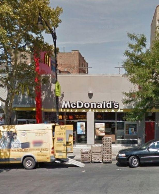 Pictured is the McDonald's in the Bronx where the body was found. Source: NBC
