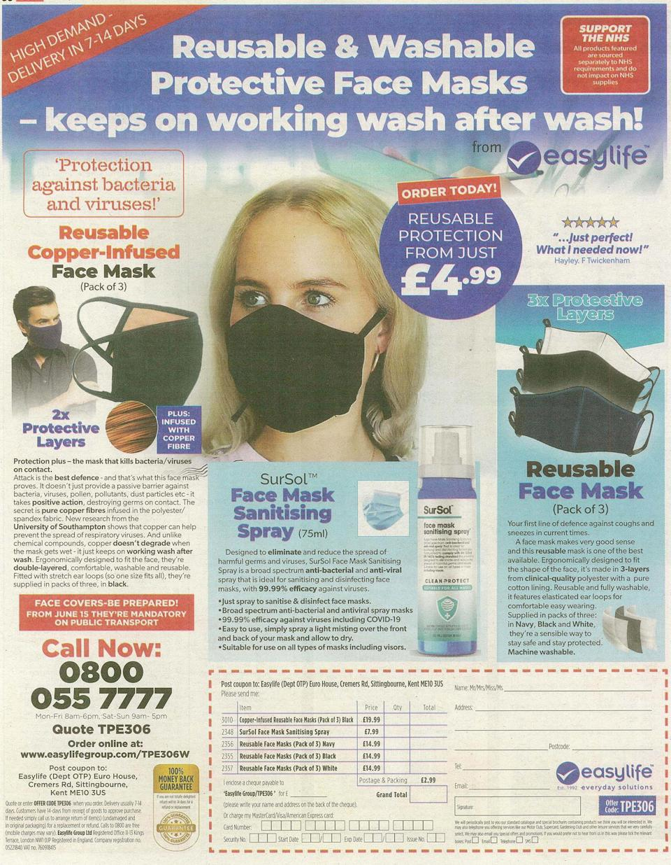 The advert has been banned by the ASA. (PA Images/ASA)