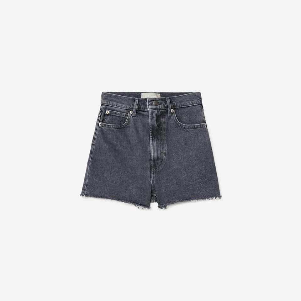 The Way-High Jean Short in Washed Charcoal (Photo via Everlane)