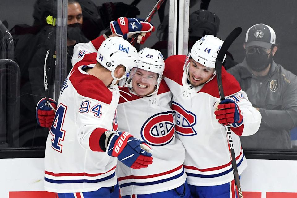 Nick Suzuki and Cole Caufield have been sensational for the Canadiens as Montreal finds itself a win away from the Stanley Cup Final after a big Game 5 win in Vegas. (Getty)