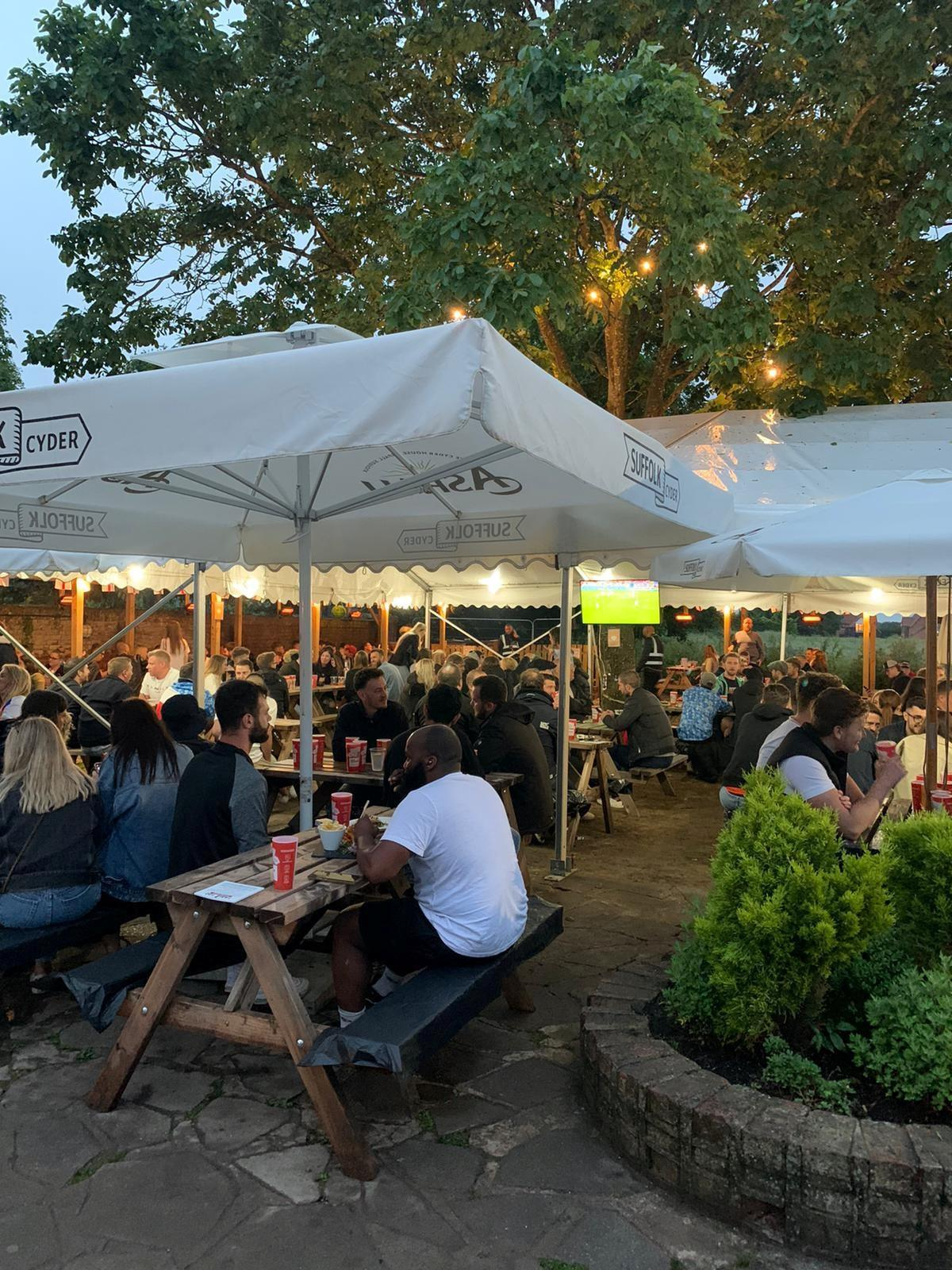 The garden at the Hare and Hounds has breathed life into the business post-lockdown (swns)