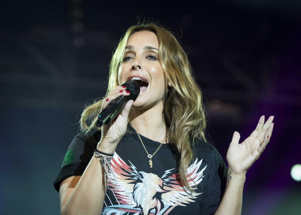 Louise Redknapp performs on stage during the Isle of Wight festival at Seaclose Park, Newport. (Photo by David Jensen/PA Images via Getty Images)