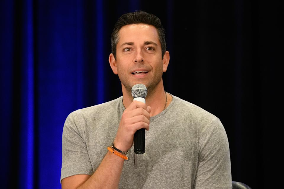 ROSEMONT, ILLINOIS - AUGUST 23: Zachary Levi attends Wizard World Comic Con Chicago at Donald E. Stephens Convention Center on August 23, 2019 in Rosemont, Illinois. (Photo by Daniel Boczarski/Getty Images )