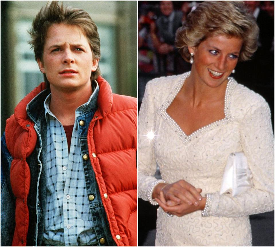 Michael J Fox and Princess Diana (Photo: Rex)