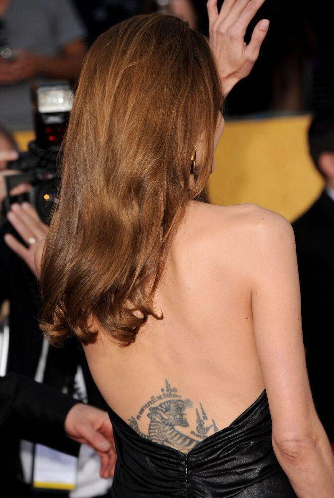 Actress Angelina Jolie arrives at the 18th Annual Screen Actors Guild Awards at The Shrine Auditorium on January 29, 2012 in Los Angeles, California. (Jason Merritt, Getty Images)