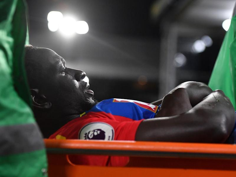 Sakho is carried off on a stretcher (Getty)