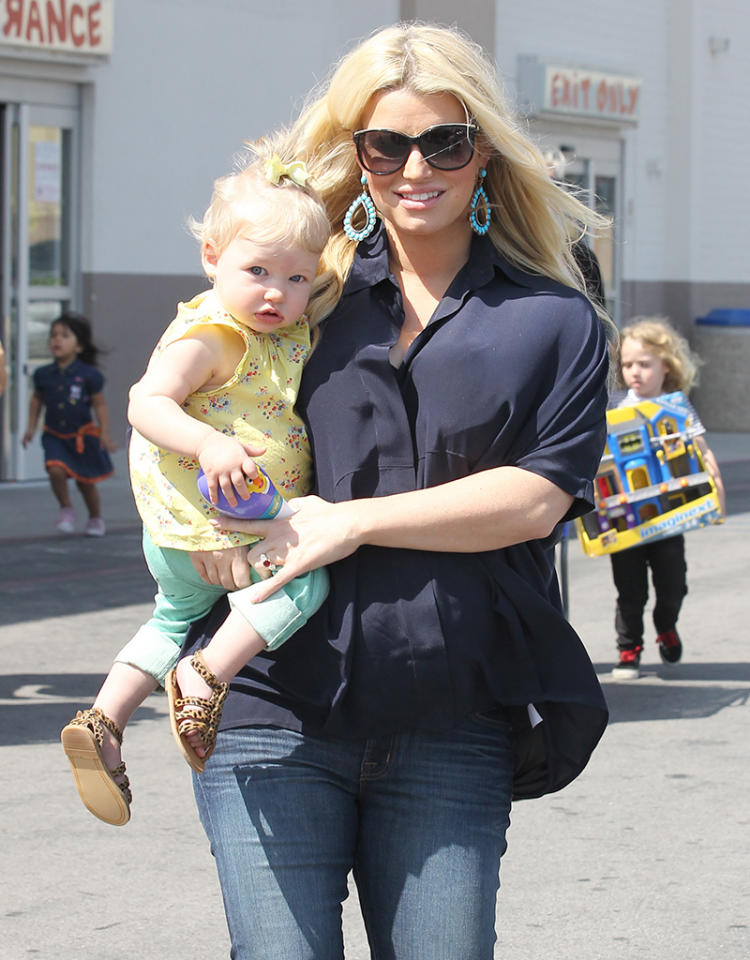 "<b>Ace Knute </b><br>Jessica Simpson (pictured with adorable daughter Maxwell Drew) and her fiancé, Eric Johnson, must really want their <a target=""_blank"" href=""http://omg.yahoo.com/blogs/celeb-news/jessica-simpson-gives-birth-baby-boy-230629036.html"">newborn son</a> to be a race-car driver! The couple named their baby boy Ace Knute (pronounced Ka-nute). Before you make any judgments, the middle name was given in honor of Johnson's Swedish grandfather, <span>Knute Johnson. <br></span>"