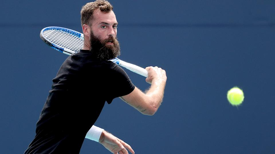 Benoit Paire, pictured here in action against Lorenzo Musetti at the Miami Open.