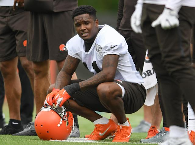 Antonio Callaway is reportedly facing a 10-game ban for violating the NFL's substance abuse policy. (Nick Cammett/Diamond Images/Getty Images)