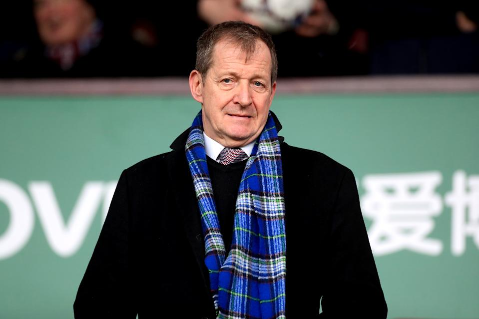Alastair Campbell showed off his bagpipe skills. (Photo by  Mike Egerton/EMPICS/PA Images via Getty Images)
