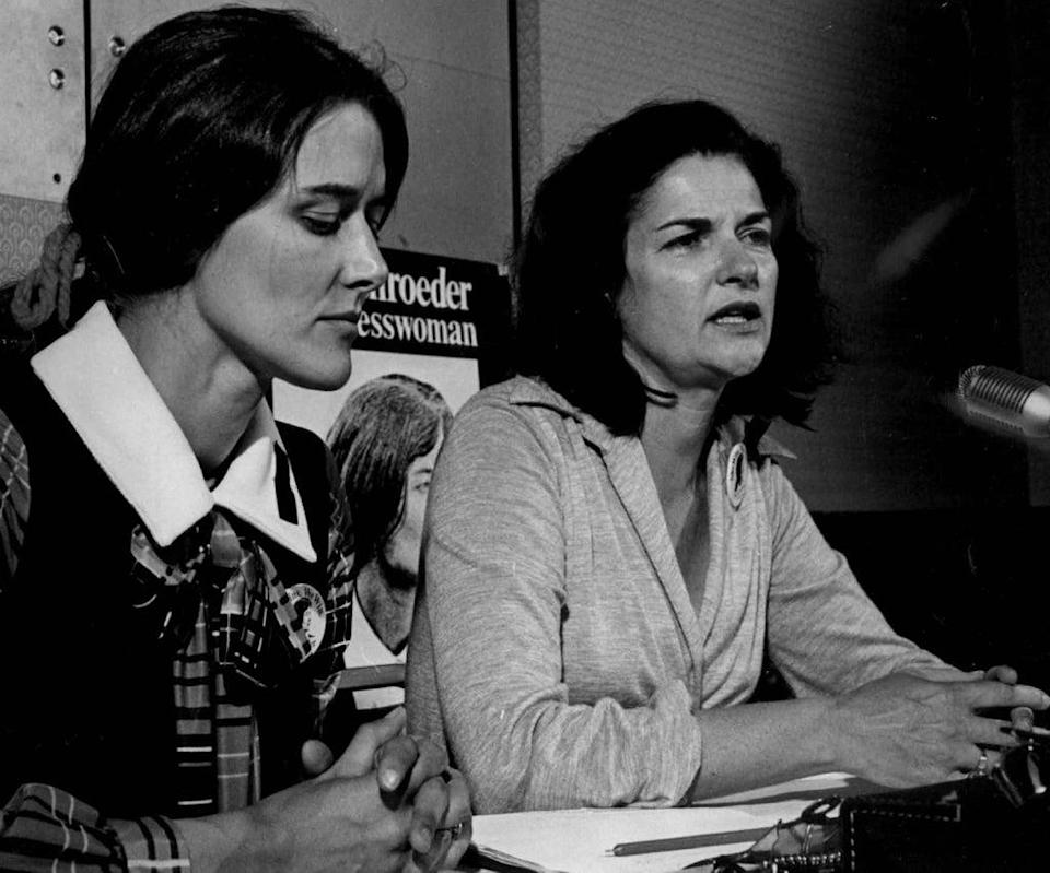 Farenthold (pictured right in 1972, with Colorado congresswoman Pat Schroeder) made two unsuccessful bids for the Democratic nomination for governor of Texas (Denver Post/Getty)