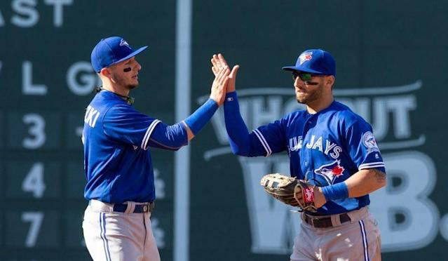 Troy Tulowitzki and Kevin Pillar are defensive wizards for the Blue Jays. (Getty Images)