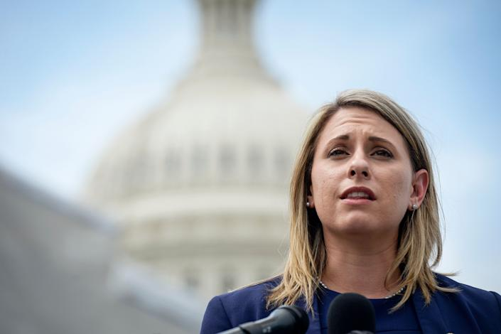 Former Rep. Katie Hill (D-Calif.) speaks at a press conference on Tuesday, June 25, 2019.  (Photo: Photo by Caroline Brehman/CQ Roll Call via Getty Images)