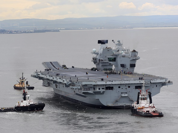 Heres Drone Footage Of The Most Powerful Aircraft Carrier Ever