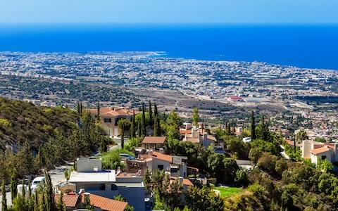 View from mountain near Limassol, Cyprus