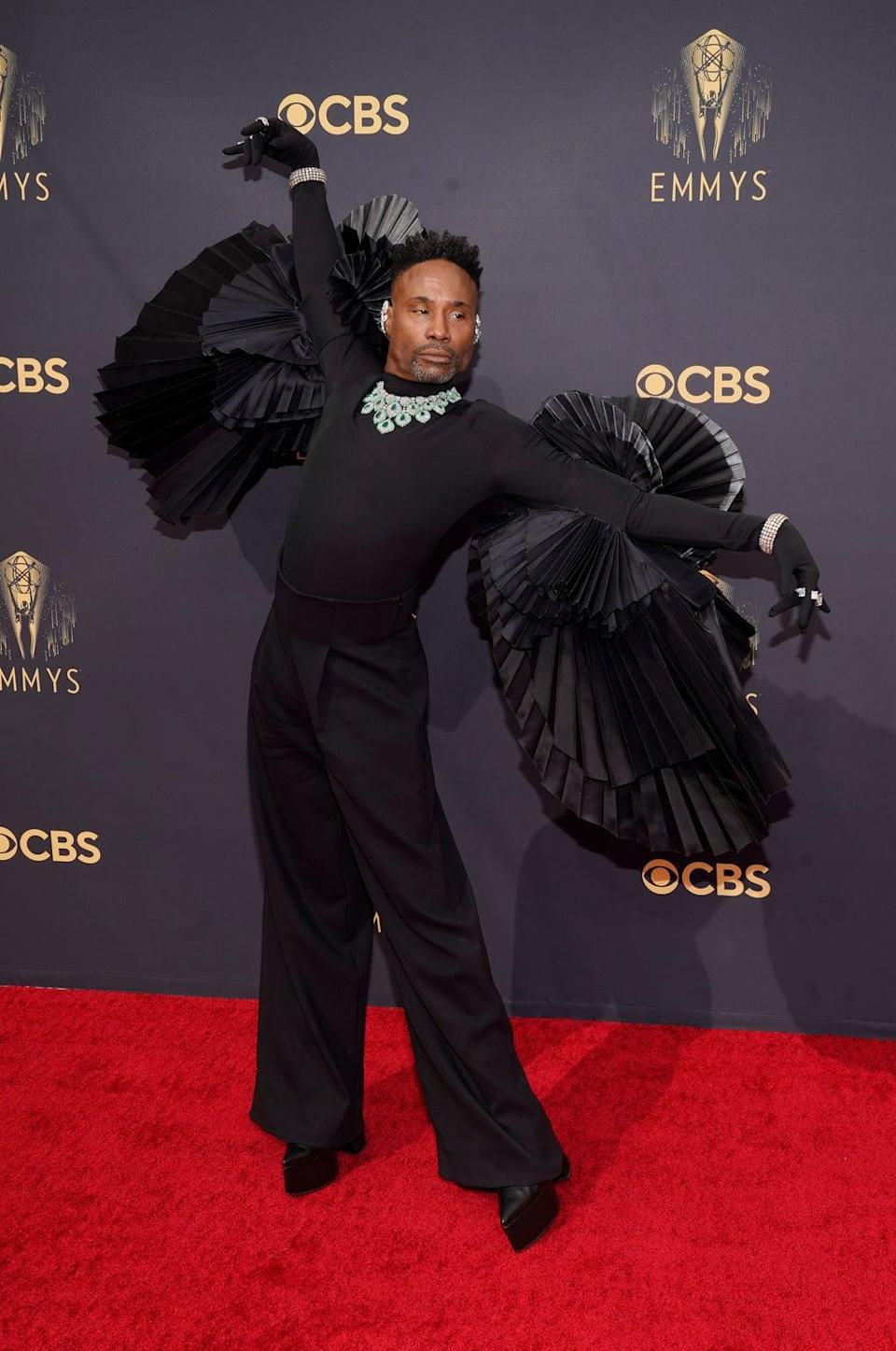 Billy Porter looked ready to take flight at the Emmy Awards (AP Photo/Chris Pizzello) (AP)