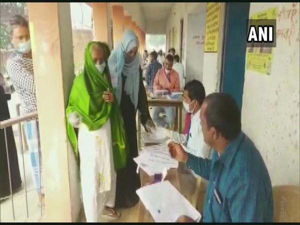 Visuals from a polling booth in Bihar.