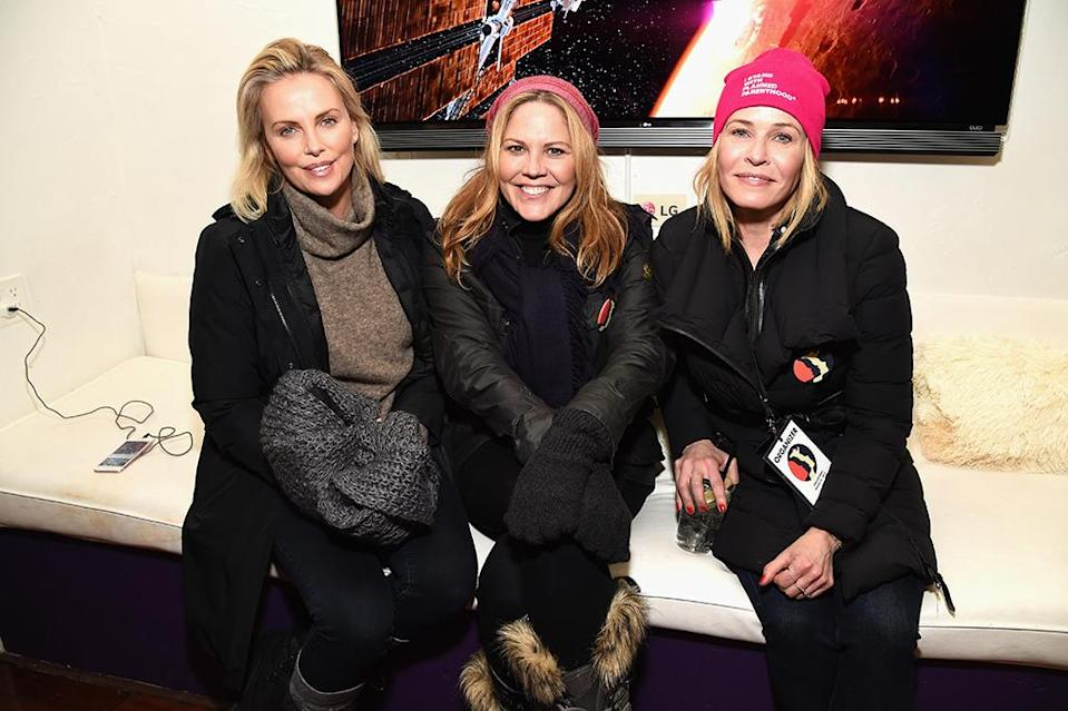 <p>In addition to leading the Women's March in Park City, the trio was seen hanging out at The Hub on Jan. 21. (Photo: Michael Kovac/Getty Images) </p>