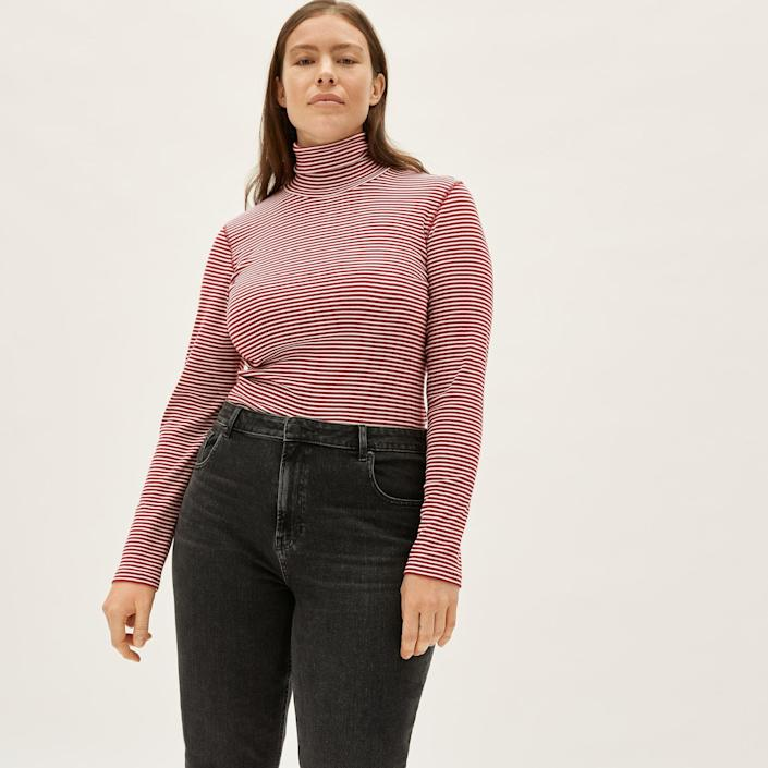<p>Everyone should have this <span>Everlane Pima Micro-Rib Turtleneck</span> ($38) in their collection.</p>