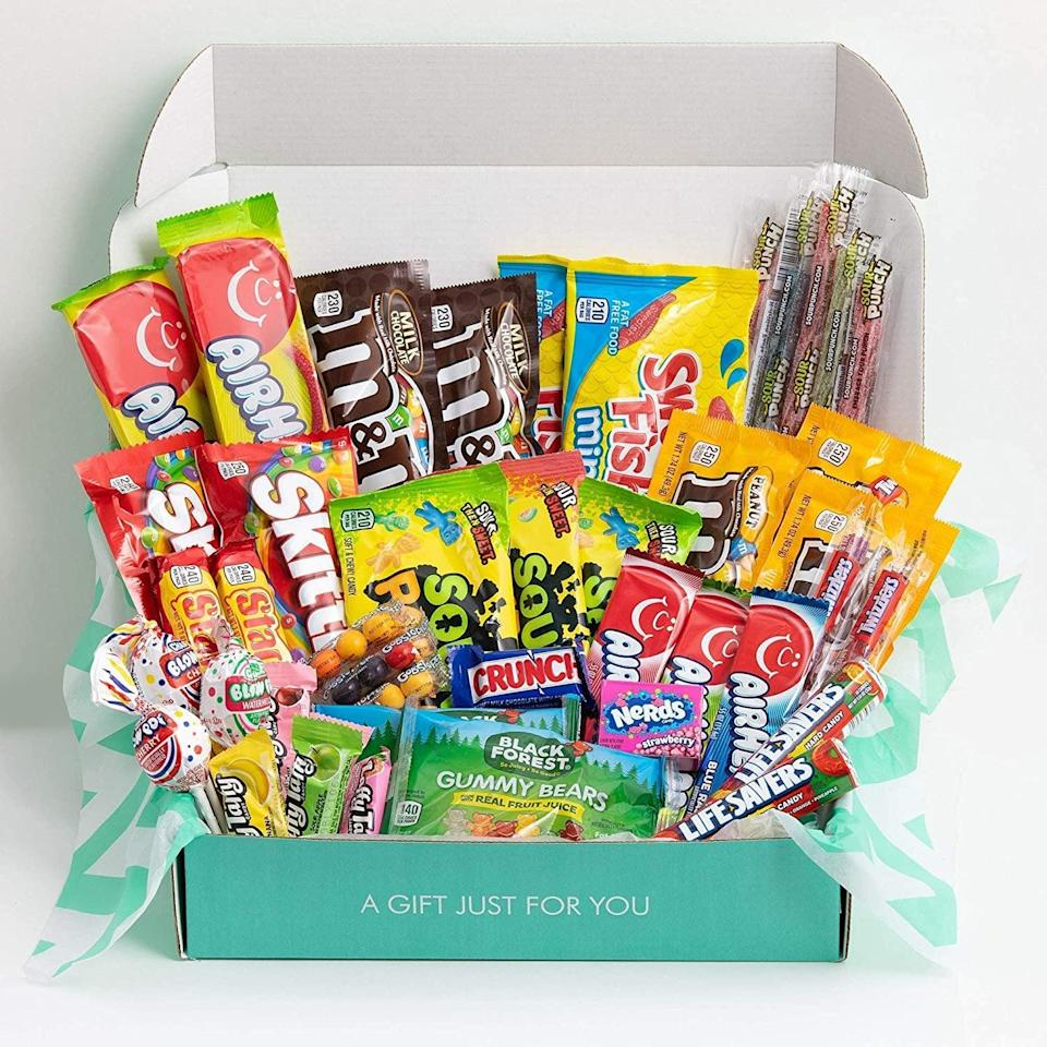 <p>The <span>The Care Crate Ultimate Candy Snack Box Care Package </span> ($36) is perfect for the sweet-tooth who loves candy as much as they love you. This is a great gift to a college student! They'll thank you endlessly for the sweetest gift.</p>
