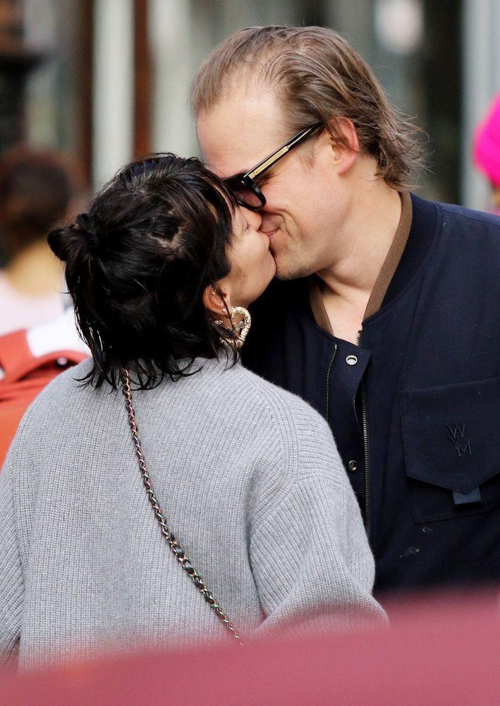David Harbour (R) and Lily Allen | BACKGRID