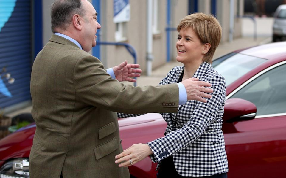 Alex Salmond and Nicola Sturgeon were once close allies but are now bitter rivals - Jane Barlow/PA