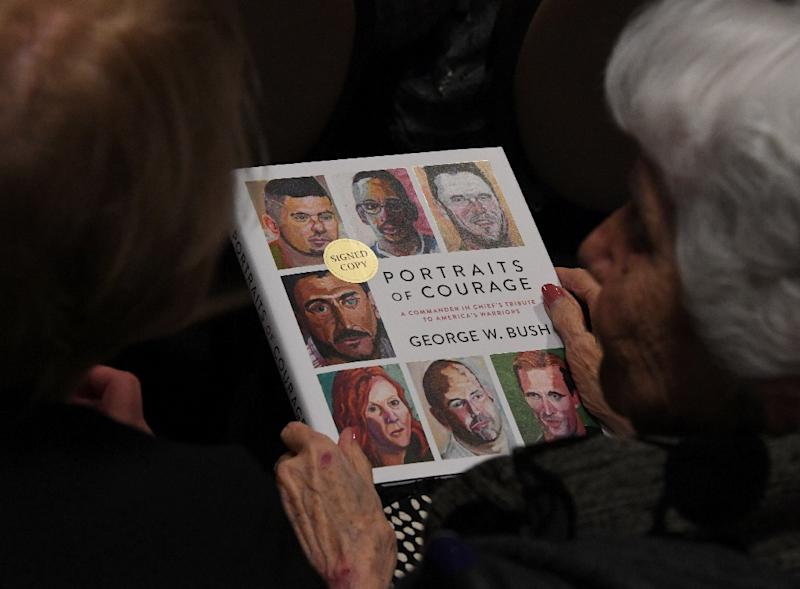 """Former US President George W. Bush's book, """"Portraits of Courage: A Commander in Chief's Tribute to America's Warriors"""", contains portraits of veterans painted by the former president accompanied by their story"""