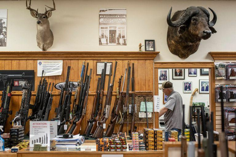 A gun store in Austin, Texas, last week. More guns are being bought by more Americans than ever before